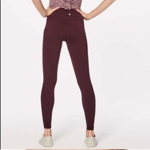 Maroon lulu leggings
